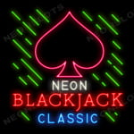 Neon Blackjack Classic Game