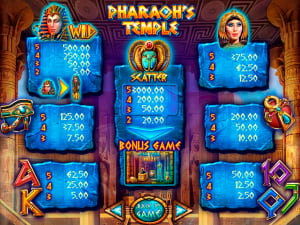 Pagos de la slot Pharaoh's Temple