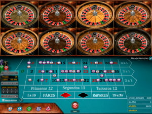 Mesa de Ruleta Europea Multi Wheel European Roulette Gold
