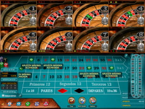 Apuestas de Ruleta Europea Multi Wheel European Roulette Gold
