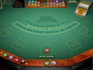 Mesa de Blackjack Multihand Vegas Downtown Gold