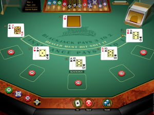 Manos de Blackjack Multihand Vegas Downtown Gold