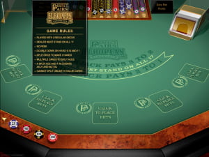 Reglas del BlackJack Europeo Perfect Pairs Gold