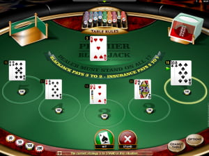 Manos de Premier Blackjack Multihand