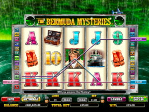 Premios de la slot The Bermuda Mysteries