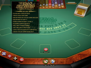 Reglas de Vegas Single Deck Blackjack Gold