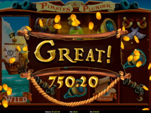 Premios de la slot Pirates and Plunder