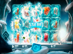 Premios de la slot Frozen Diamonds
