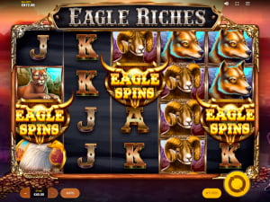 Tiradas gratis en la slot Eagle Riches