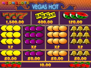 Pagos de la slot Vegas Hot