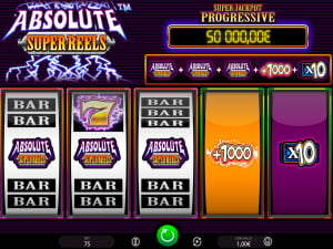 Jackpot de la Slot Absolute Super Reels