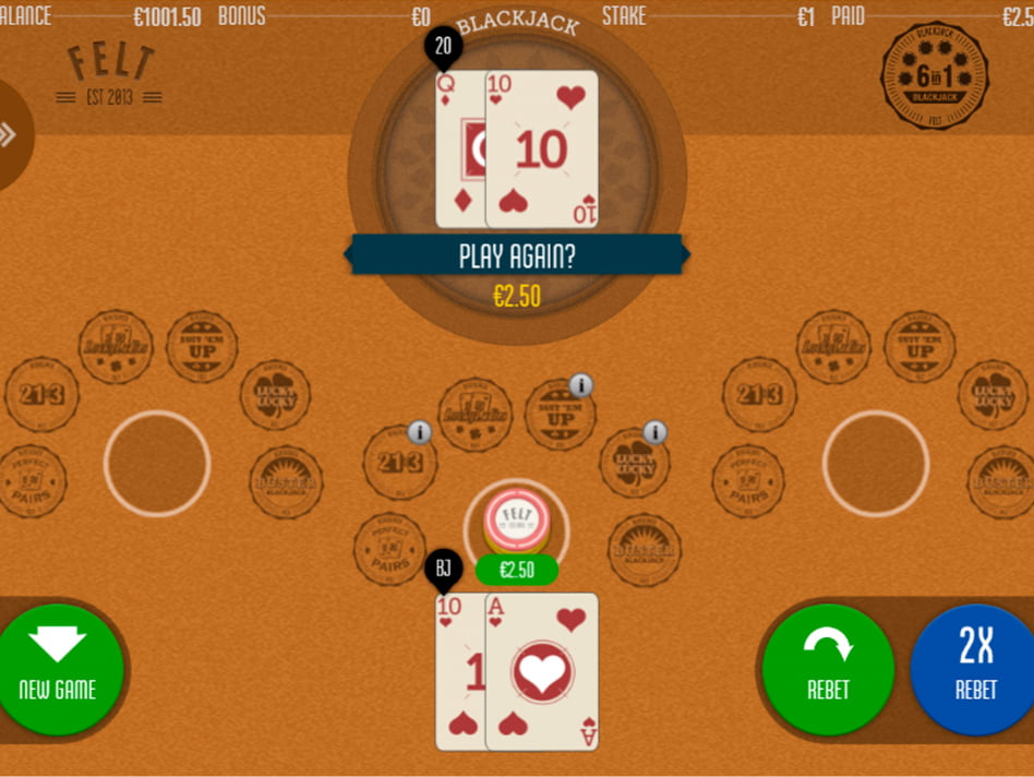 Juego online Blackjack 6 in 1 de Felt Gaming